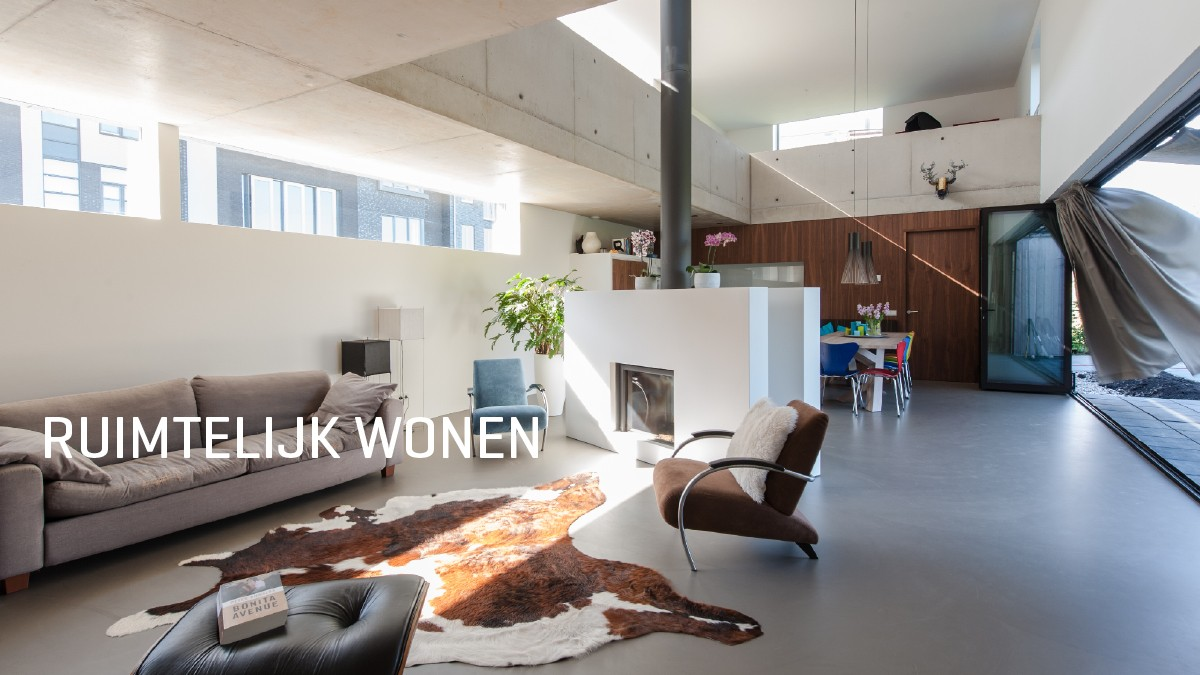 Wonen In Wit : Ruimtelijk wonen architectuurbureau project dwg enschede