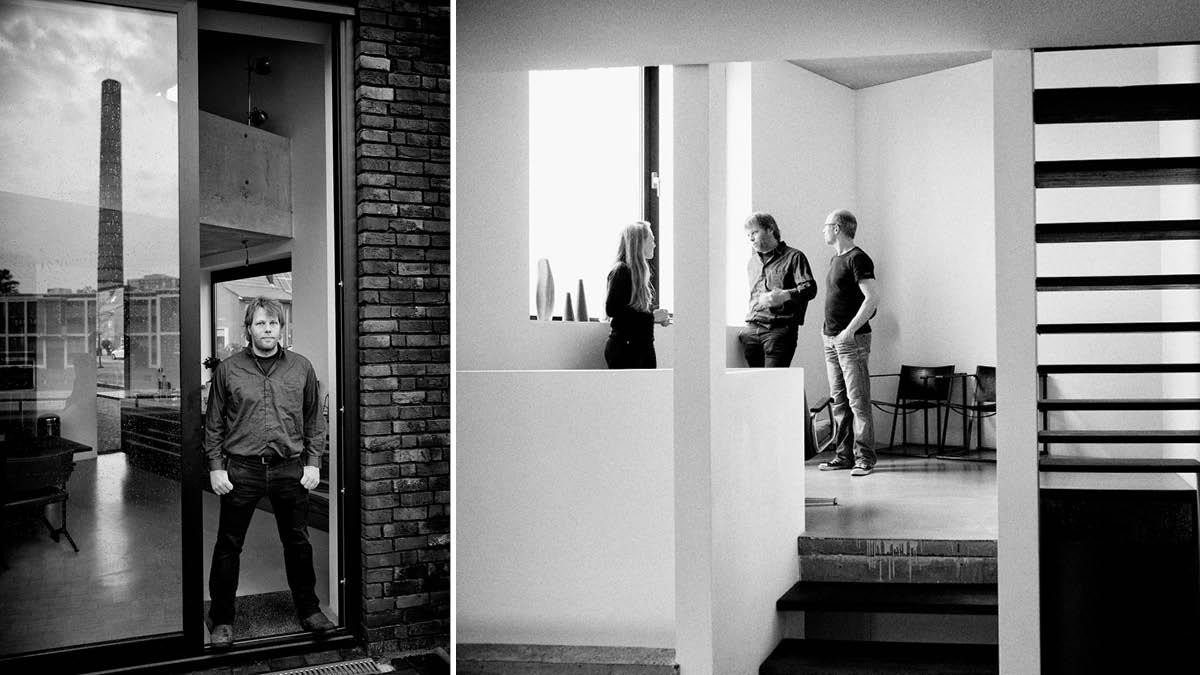 opdrachtgevers in gesprek met architect Michiel de Wit